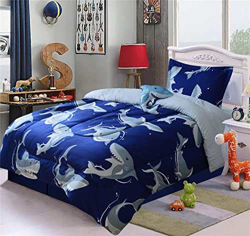 shark bedding twin - 5