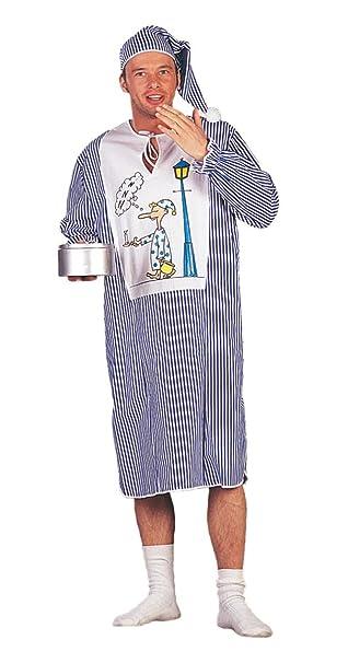 Herren Kostum Nachthemd Schlafwandler Karneval Fasching Gr 50