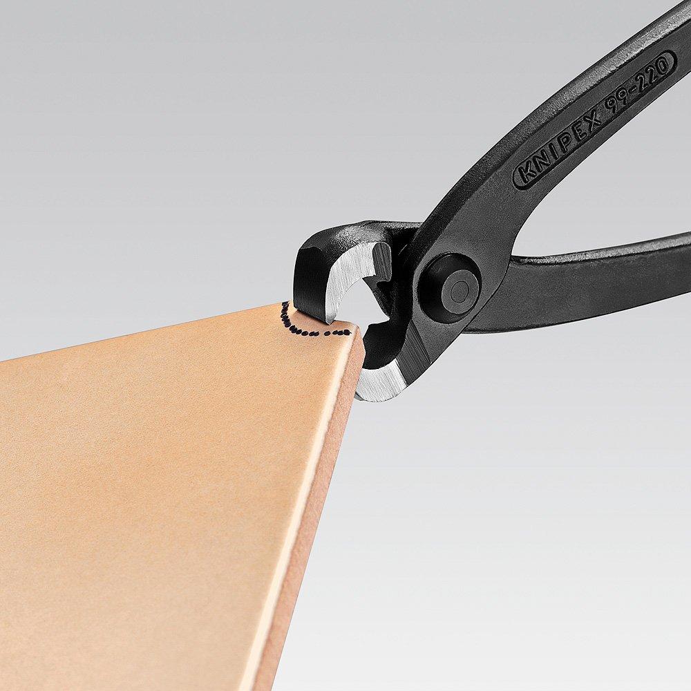 schwarz atramentiert mit Kunststoff /überzogen 220 mm Rabitz- oder Flechterzange KNIPEX 99 01 220 Monierzange