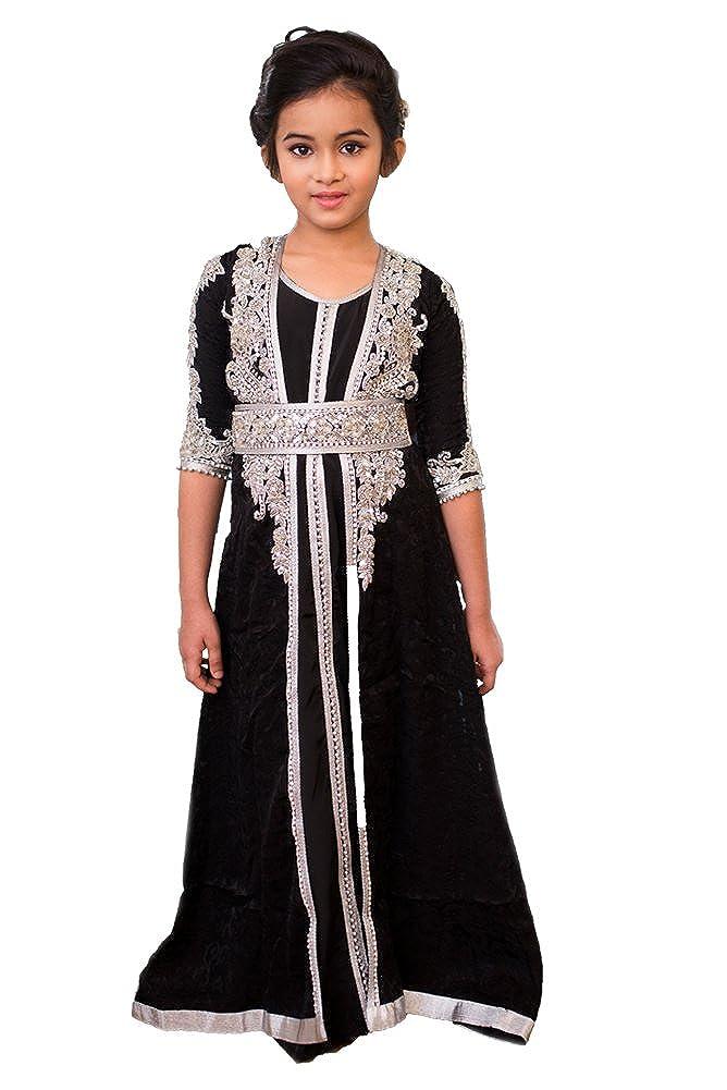 6dd2461a2d PalasFashion Kolkozy Fashion Kid s Handmade Moroccan Style Kaftan Dress   Amazon.co.uk  Clothing