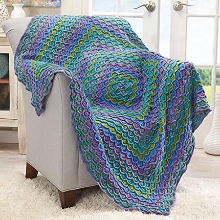 Herrschners Water Lily Reflections Crochet Afghan Kit