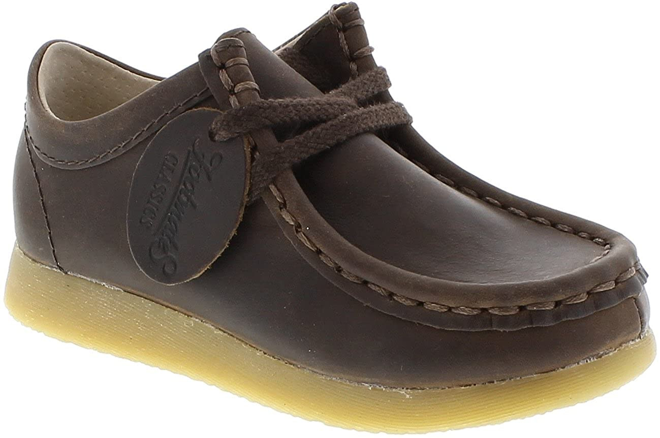 FootMates Child Wally Low Laceup Wallabee Oxford (Toddler/Little Kid) Brown Oiled
