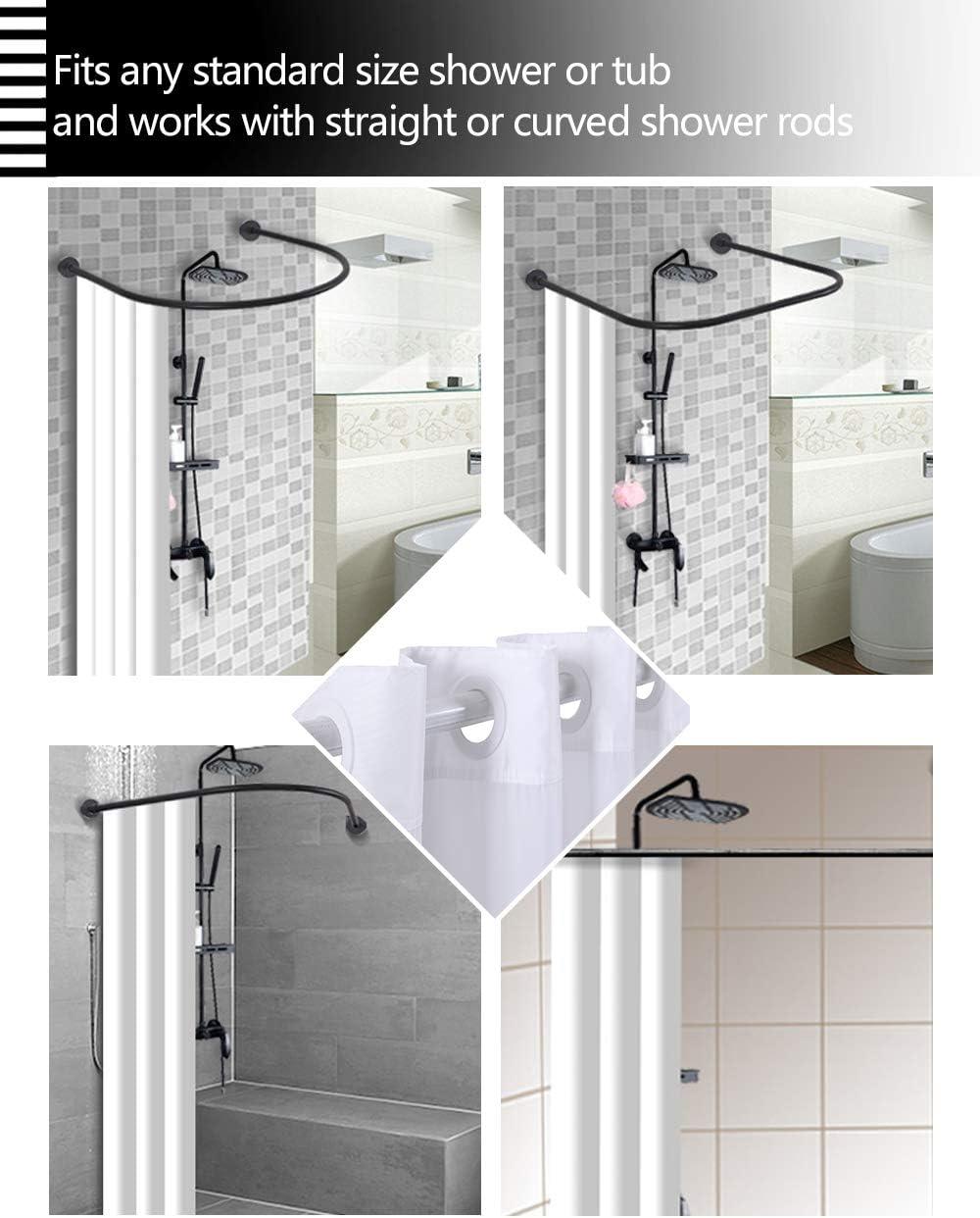 Conbo Mio Cortina de Ducha Ganchos, con Forro a presión para baño, Impermeable, a Prueba de óxido, con Anillos Flexibles con imán Premium: Amazon.es: Hogar
