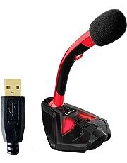KLIM Voice Desktop USB Mikrofonstand für Laptop Computer - Gaming Mic - Mikrofon PC PS4 Grün [ Neue 2019 Version ]