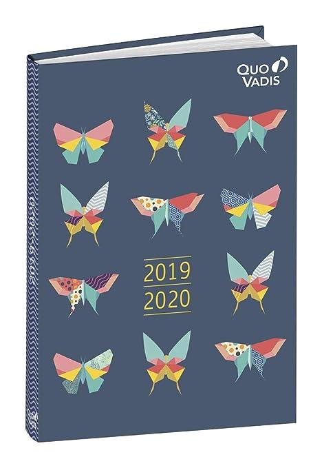 Amazon.com: Butterfly 2019-2020 - Agenda escolar de 1 día ...