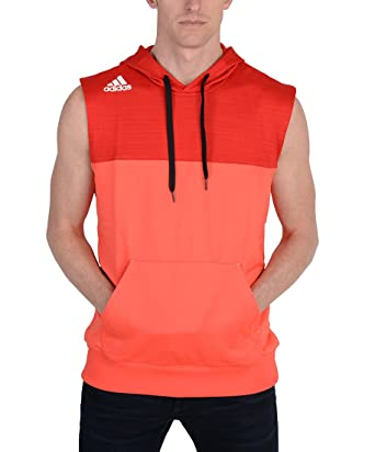 Adidas Mens Speed Sleeveless Hoodie Red at Amazon Men's Clothing ...