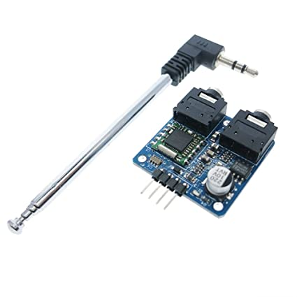Roy TEA5767 FM Stereo Radio Module, with Free Cable Antenna for 76-108MHZ