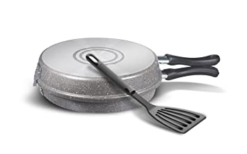 Bialetti - Trudi R - Y0C5FB0240 - Sartén para Tortilla + Herramienta de Aluminio - 24 cm - Gris: Amazon.es: Hogar