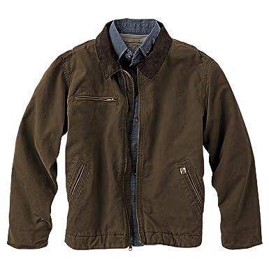 Cotton Canvas Jacket Duck Brown Work Wear