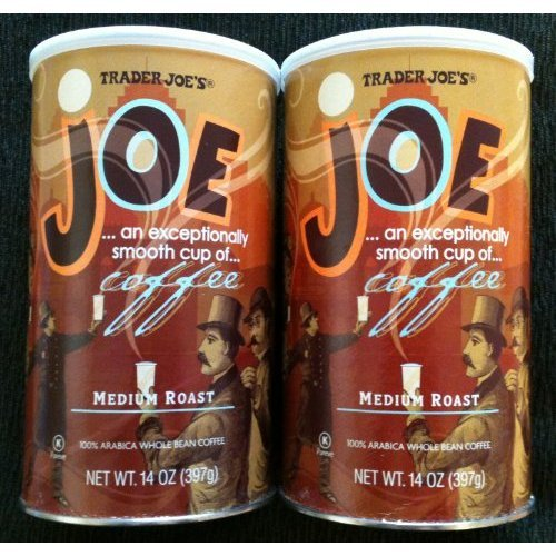 Trader Joe's Joe Coffee, Medium Roast, 100% Arabica Whole Bean Coffee with an Exceptionally Smooth CUP of Coffee - 2 Pack of 14 Oz (Trader Joes Coffee Candy)