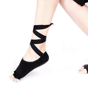 Maybesky Calcetines de Yoga Calcetines de Ballet de Silicona ...