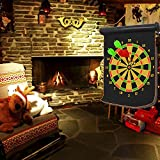 Kangkang@ Portable Double-faced Magnetic Hanging Dart Shot Dart Board Shot Game Toy Set for Bar Pub Home Party with 4 Dart