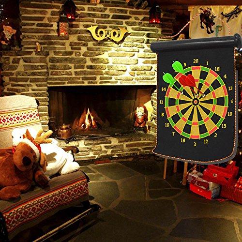 Kangkang@ Portable Double-faced Magnetic Hanging Dart Shot Dart Board Shot Game Toy Set for Bar Pub Home Party with 4 Dart by Kangkang