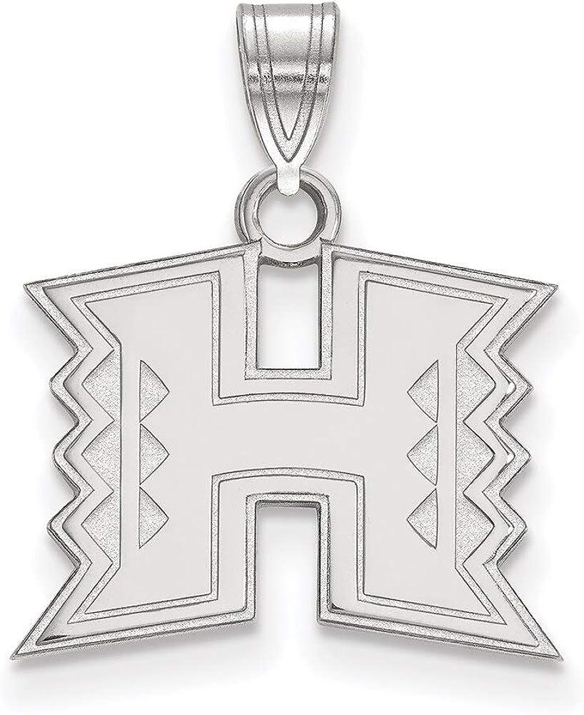 Lex /& Lu LogoArt 10k White Gold The University of Hawaii Small Pendant