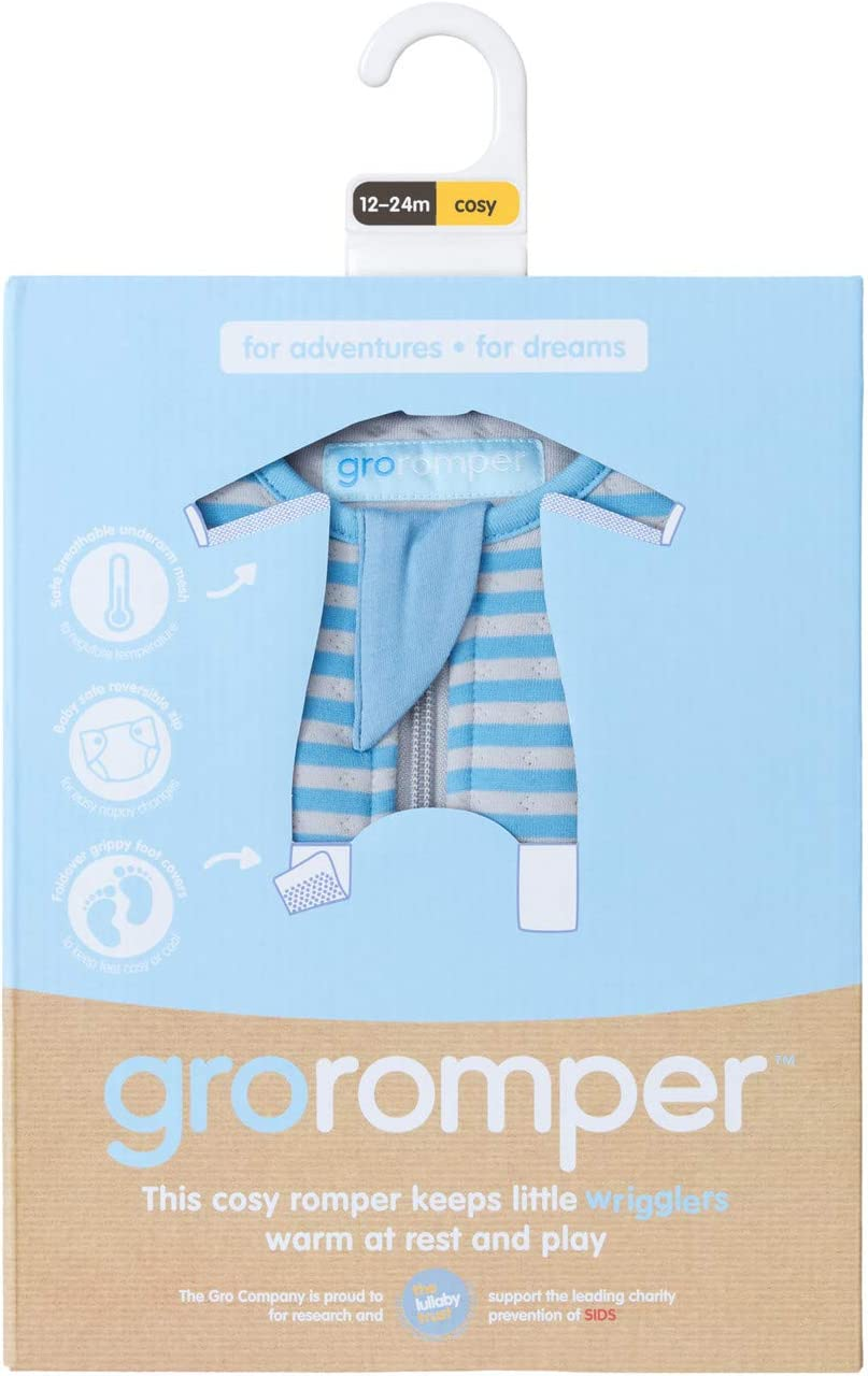 12-24 Months The Gro Company Pink Stripe Groromper Toddler Bedding