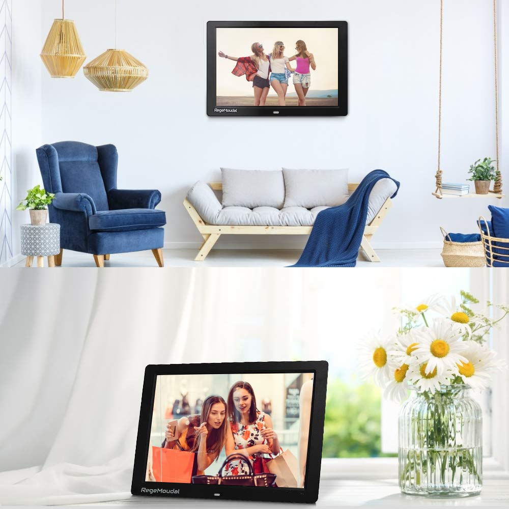 Digital frame, RegeMoudal 12 Inch Electronic photo frame with Wireless Remote Control, Support SD Card/USB by RegeMoudal (Image #4)