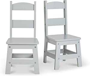 Melissa & Doug Wooden Chair Pair - Gray