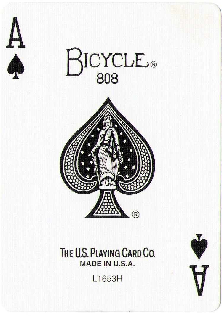 Mazzo di carte tutte uguali dorso BLU (9 di Cuori) BICYCLE