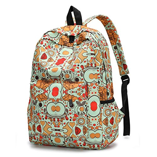 Fresh Women Style New Female Print Floral Travel Tefamore A Backpack Backpacks Bookbags 4qdaEdC