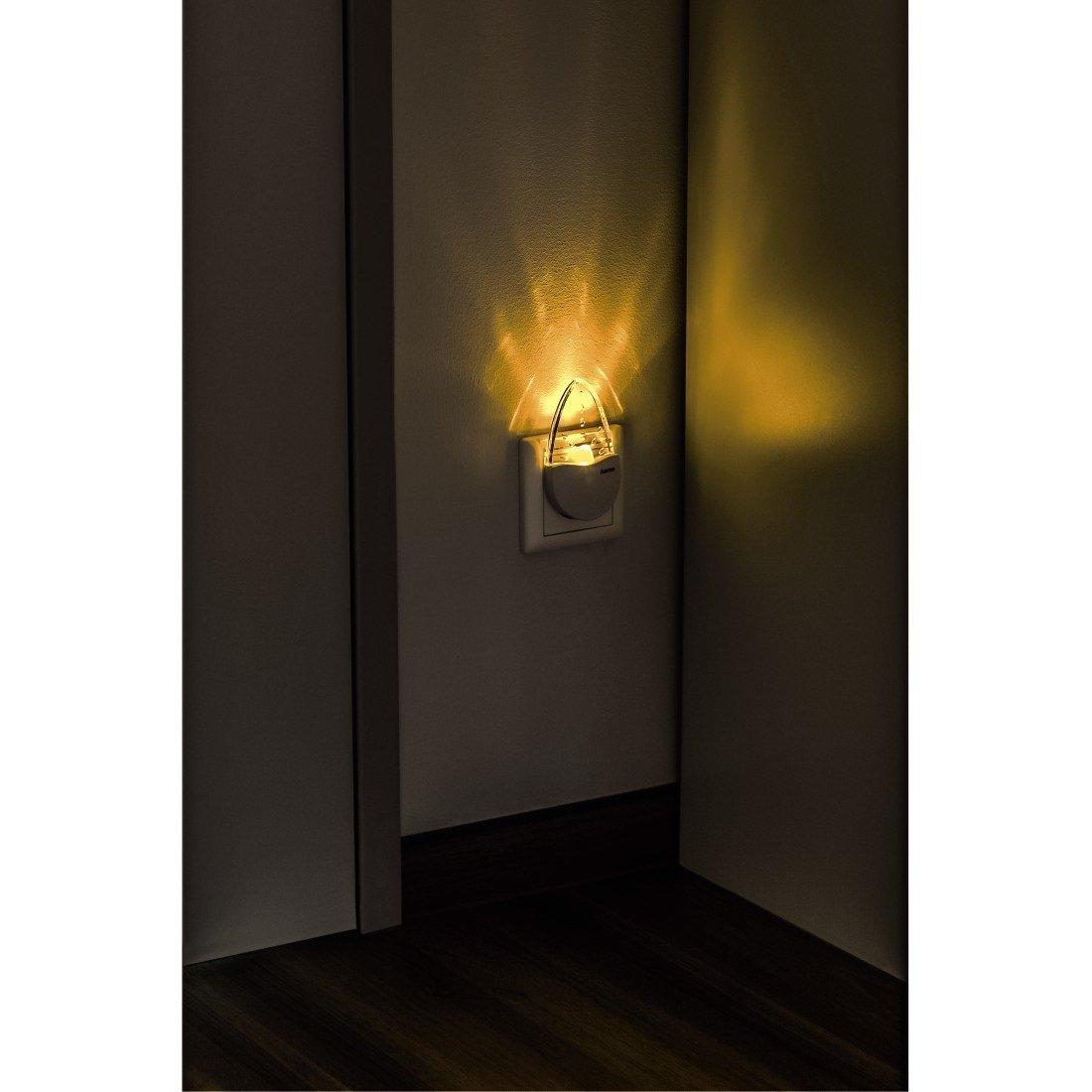 Hama Bernstein LED Nachtlicht Für Kinderzimmer Und Schlafzimmer ( Stromsparend, Nur 0,2 W, Orientierungslicht Für Gang Und Keller,  Stimmungslicht, ...