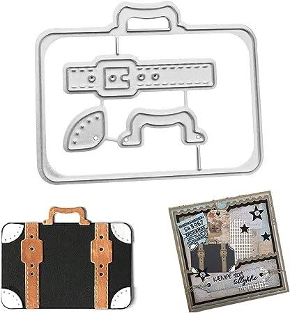 zum Basteln 3 St/ück Album Karten Silberfarben f/ür Scrapbooking Schablone Kuizhiren1 Stanzformen Pr/ägen