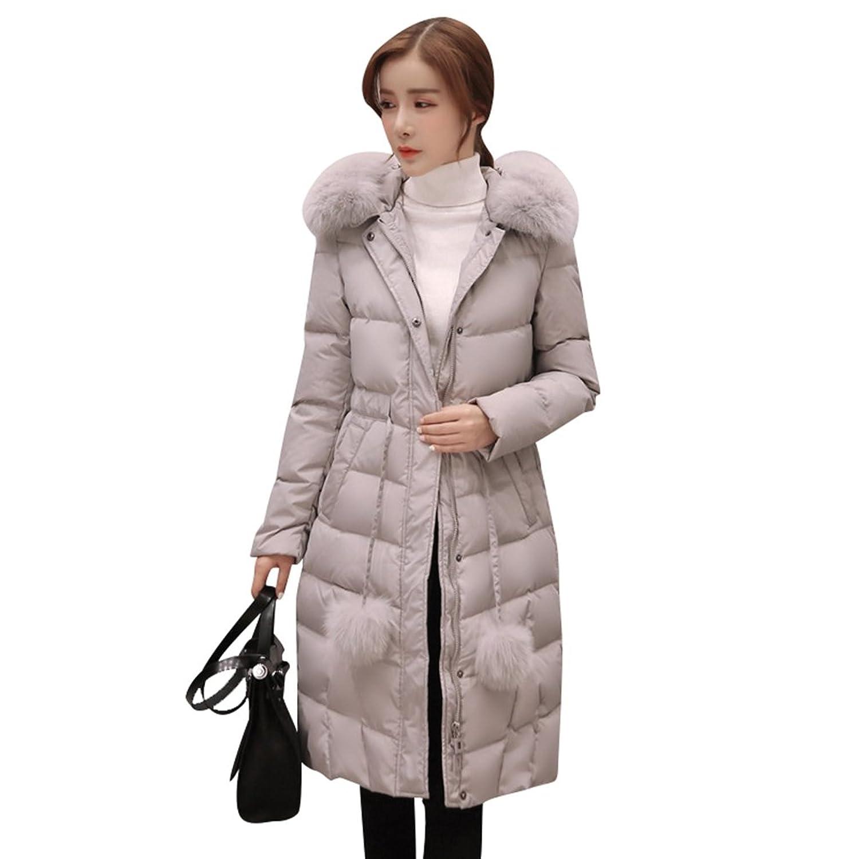Warm Winter Wintermantel Herbst Mantel Niseng Damen Lang 6yb7fgYv