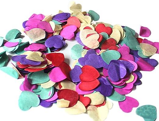 1000 unidades de confeti de papel arcoíris biodegradable para boda ...