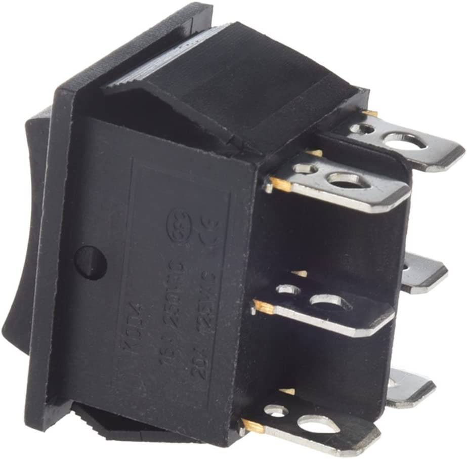 PULSANTE DEVIATORE ON ON DPDT 2A 250V 6 PIN