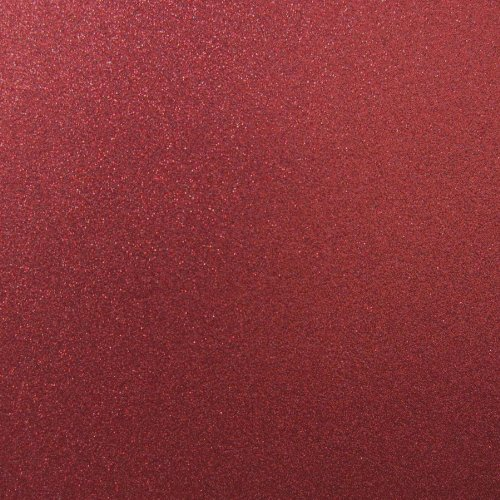 Best Creation 12-Inch by 12-Inch Glitter Cardstock, Wine Red