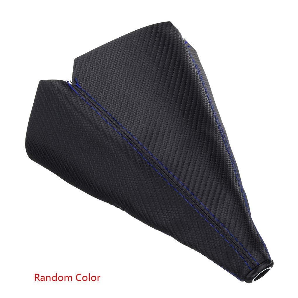 Uzinb Universal Manual de Fibra de Carbono PU Engranaje del Coche a Prueba de Polvo Shift Palanca de Cambios de Arranque de la Cubierta de Color al Azar