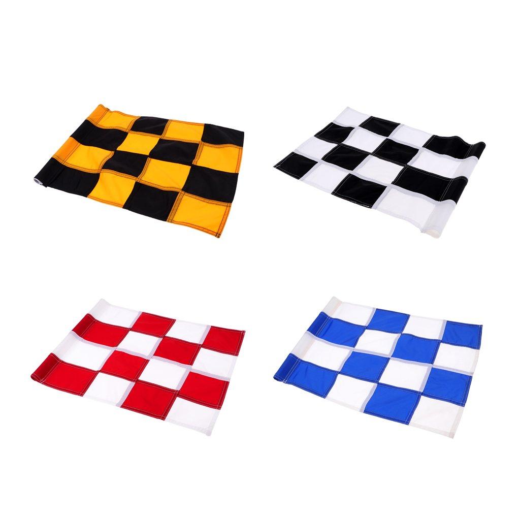 Baosity 4Pcs Golf Flag, Golf Putting Green Flag, Backyard Practice Golf Hole Pole Cup Flag Nylon Putting Green Flag