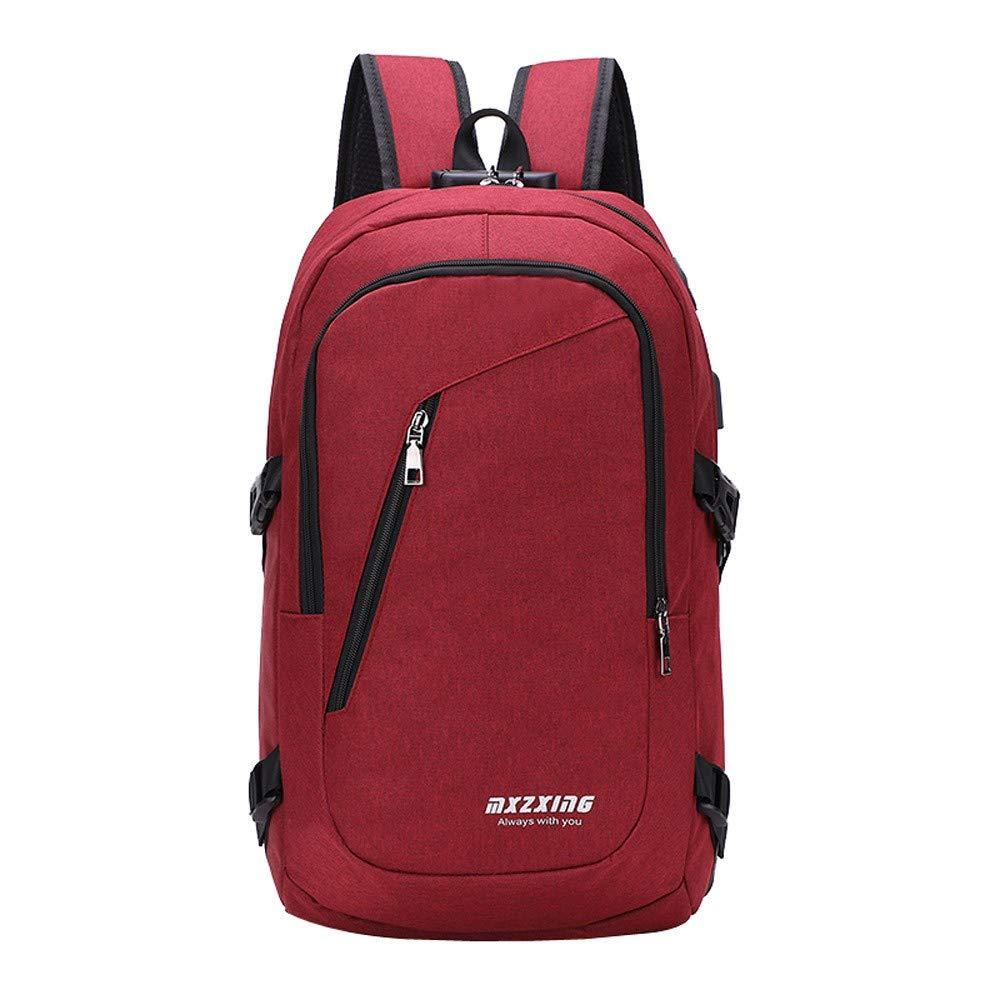 Amazon.com: iFOMO Unisex USB Backpack Messenger Bag Fashion Casual Outdoor Travel Bag(Black,Medium): Shoes