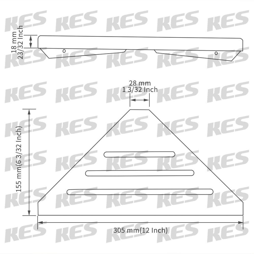 bsc216s23/ KES tri/ángulo para Ducha Ducha Esquina Cesta de Almacenamiento Organizador Colgante Estante Pared Inoxidable Pantalla Plana Cepillado Sus 304/Acero Inoxidable /2