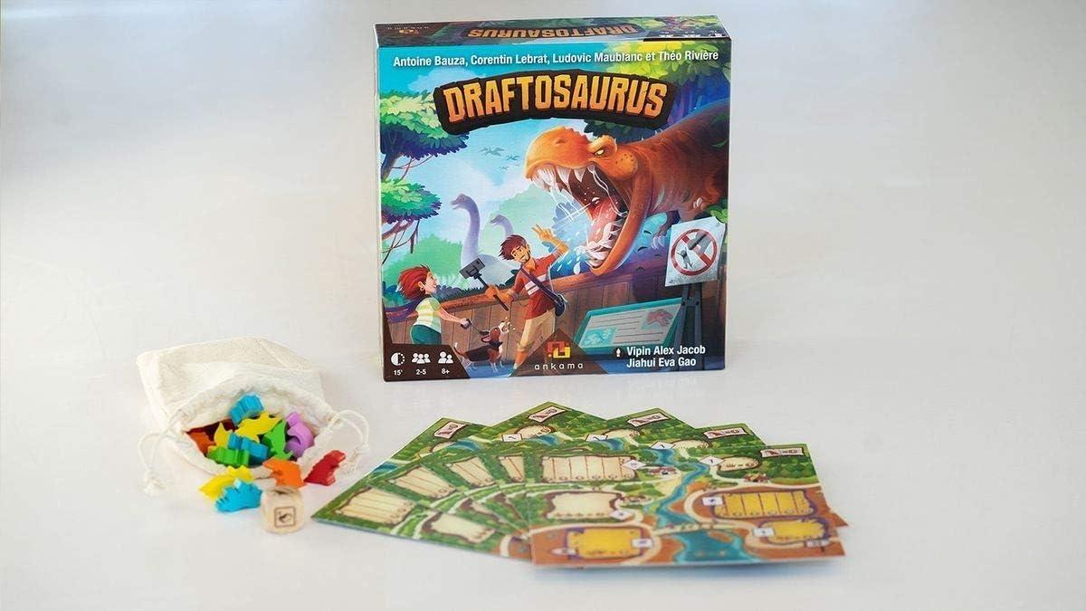 Zacatrus!- Draftosaurus Juego de Mesa, Color azúl, Verde (ZAC036 ...