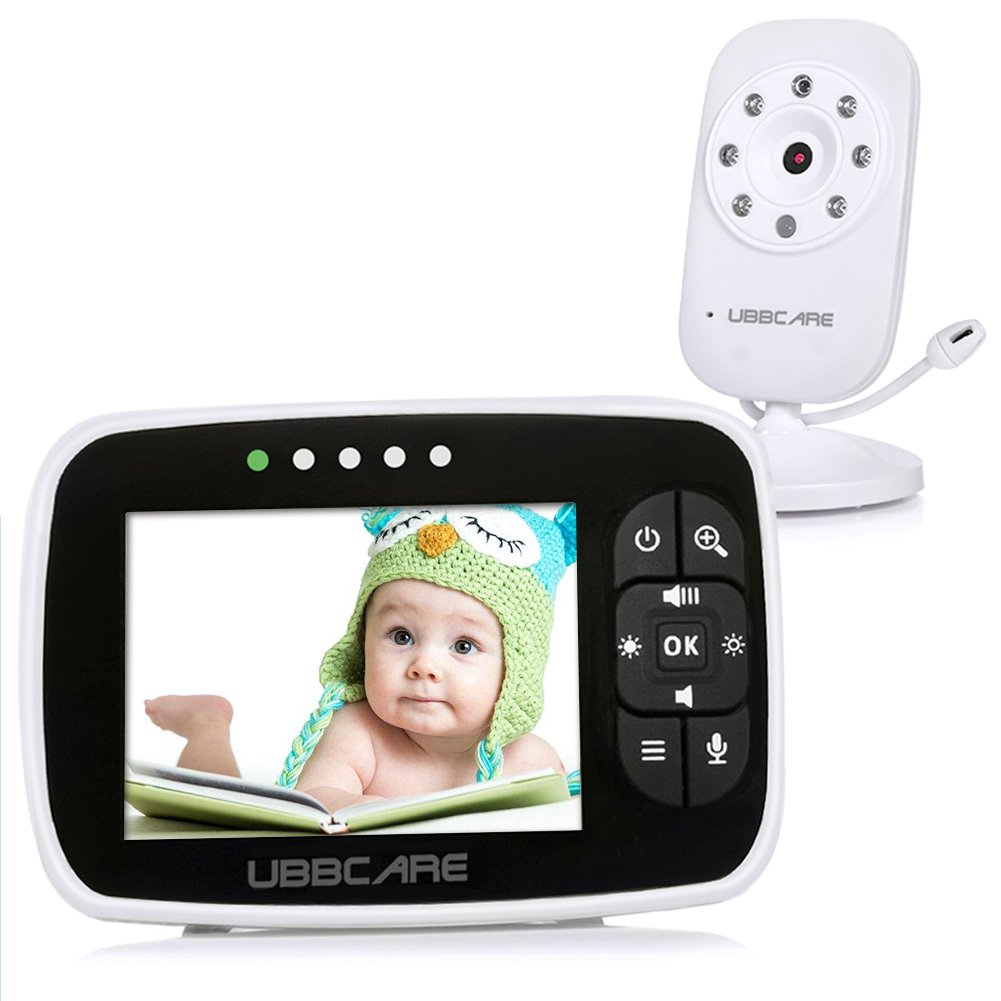 Baby Monitor With Camera Video LCD Two Way Talk Audio Night Vision Temperature System … (3.5) habibee