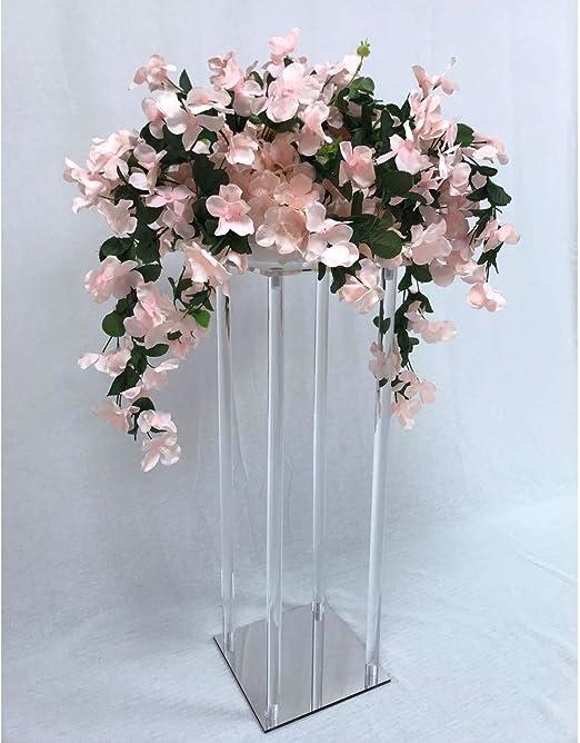 Everbon - Juego de 10 flores de acrílico transparente con efecto ...
