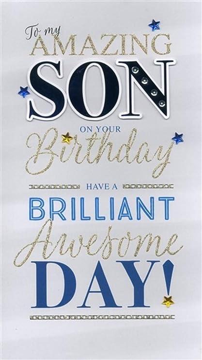Tarjeta de felicitación de cumpleaños para hijo, tamaño ...