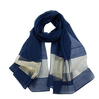 Aiklin Femmes Echarpe Foulard Long Soie Châle foulard