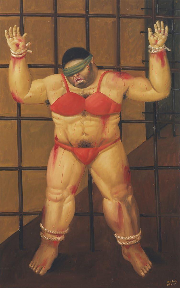 Amazon.com: Get Custom Art Fernando Botero - Abu Ghraib, Poster Art Print Wall Decor - Size 14x24 Inches: Posters & Prints