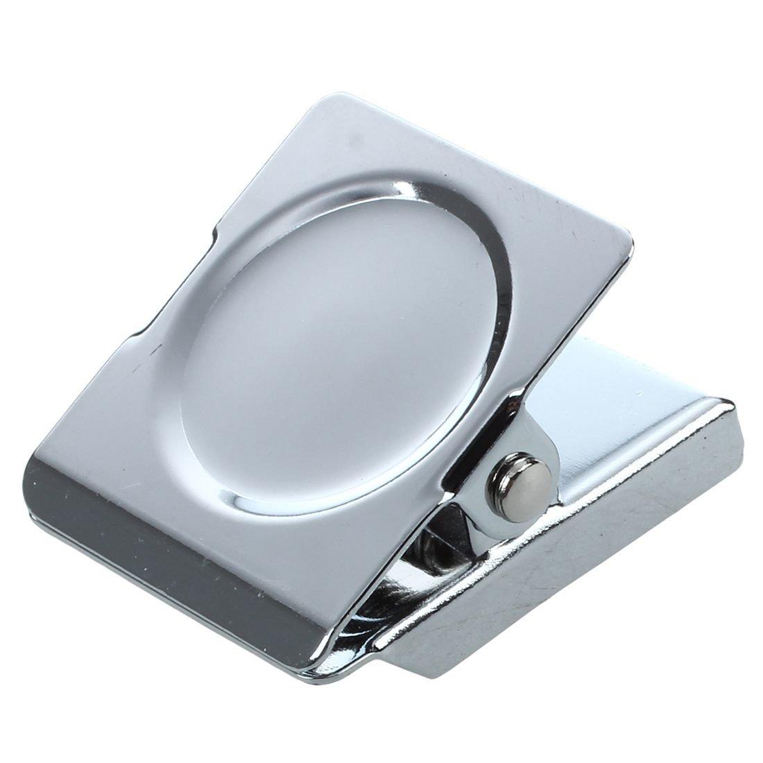 TOOGOO(R) Tono argento caricato a molla Memo biglietto magnetico della clip Frigo parete