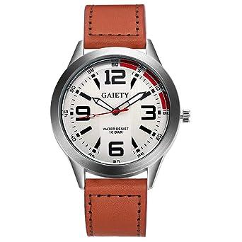 78b0e5e1f0 Rockyu ブランド 時計 メンズ 男女兼用 オシャレ サファイアガラス 海外ブランド 腕時計レディース (ブラウン)