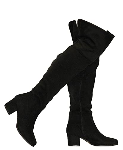 65aa520285a MVE Shoes Women's Knee-high Faux Leather - Comfortable Fashion Boots