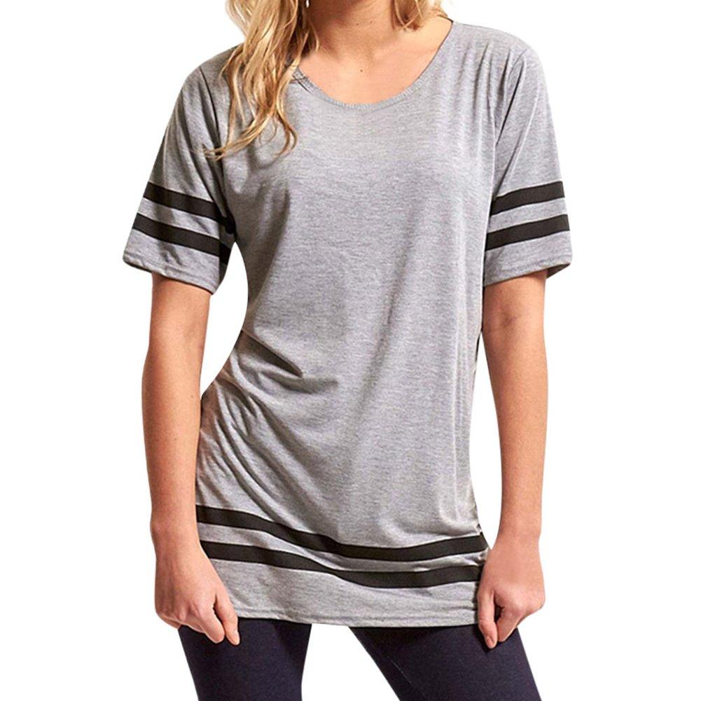 juqilu Felpe Donna, Estate Felpe Maglietta Manica Corta Donna Casuale T -Shirt Magliette Pullover Donna estive Maglia Loose T -Shirt Camicetta Donna Ragazza P180312T16-lu
