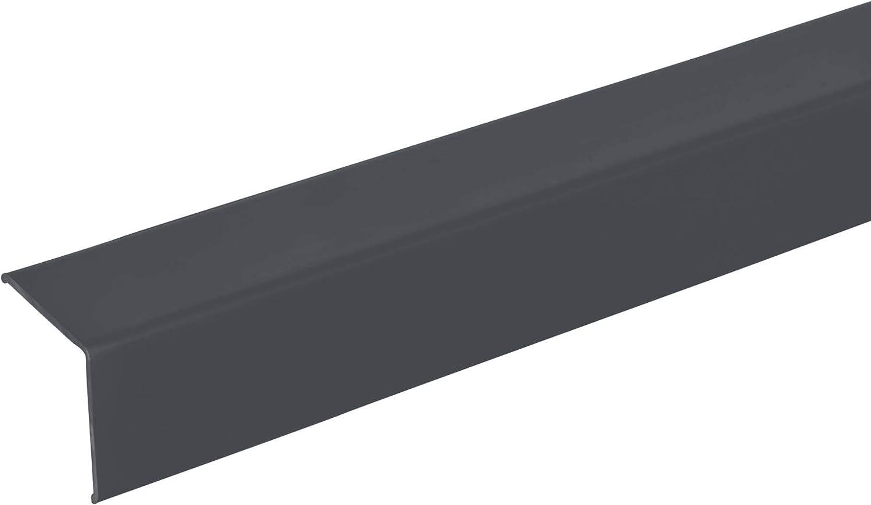 20 x 20mm * Selbstklebend * Made in Germany * Dreifach gekantet ohne Spitze 125cm graphitgrau Winkel-Profil acerto 38142 Eckschutzprofil Aluminium Winkelleiste als Kantenschutz f/ür W/ände