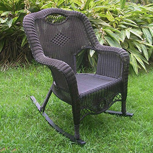 International Caravan 3195-AB-IC Furniture Piece Resin Wicker Indoor/Outdoor Rocker
