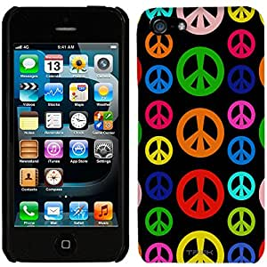 iPhone 5 Colorful Peace on Black Case