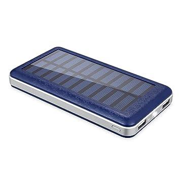 Cargador solar Aedon A8,Cargador del regalo,Banco de energía portable de la alta capacidad 20000mAh,Puerto de carga USB doble - Indicador de encendido ...