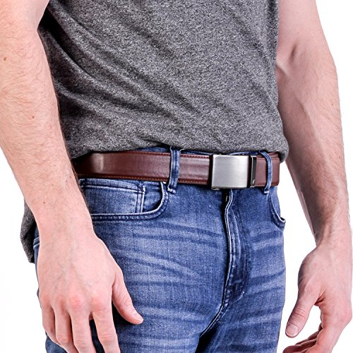 Mission Ratchet Belt Men/'s Brown Leather Shark Tank Chocolate Medium 33-35/""
