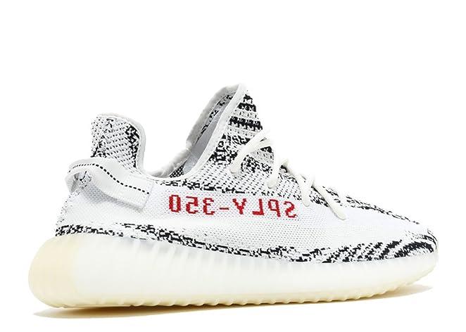 cba11c7c2 ... authentic amazon adidas mens yeezy boost 350 v2 zebra white black red  fabric size 10.5 running