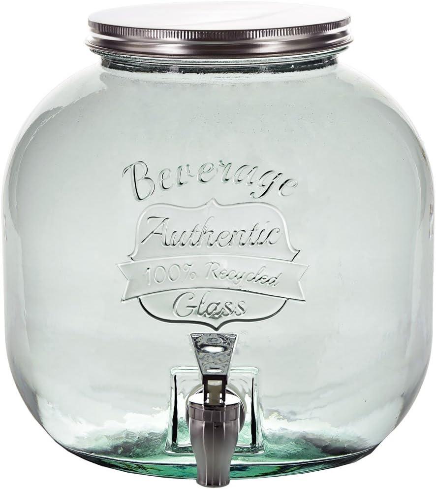 Couronne Company Authentic Glass Beverage Dispenser w/ Spigot, 202.9 oz, Clear, 1 Piece